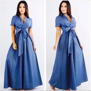 Dresses & Skirts - Jean Maxi Dress